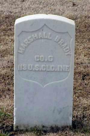 BRADY (VETERAN UNION), MARSHALL - Pulaski County, Arkansas | MARSHALL BRADY (VETERAN UNION) - Arkansas Gravestone Photos
