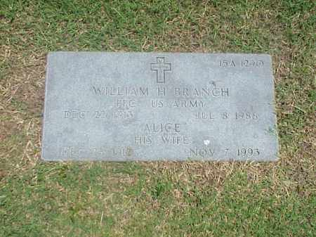 BRANCH, ALICE - Pulaski County, Arkansas | ALICE BRANCH - Arkansas Gravestone Photos