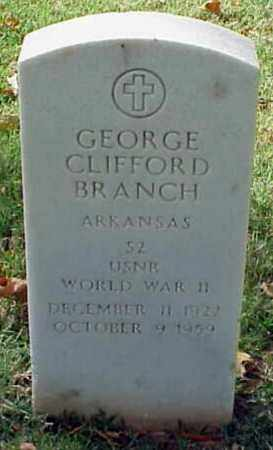 BRANCH (VETERAN WWII), GEORGE CLIFFORD - Pulaski County, Arkansas | GEORGE CLIFFORD BRANCH (VETERAN WWII) - Arkansas Gravestone Photos