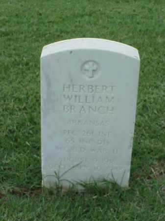 BRANCH (VETERAN WWII), HERBERT WILLIAM - Pulaski County, Arkansas | HERBERT WILLIAM BRANCH (VETERAN WWII) - Arkansas Gravestone Photos