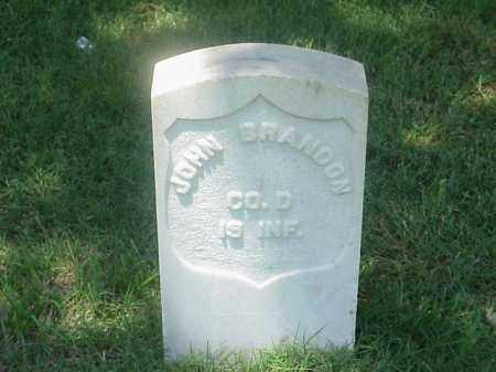 BRANDON (VETERAN UNION), JOHN - Pulaski County, Arkansas | JOHN BRANDON (VETERAN UNION) - Arkansas Gravestone Photos