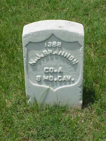 BRANNON (VETERAN UNION), N J - Pulaski County, Arkansas | N J BRANNON (VETERAN UNION) - Arkansas Gravestone Photos