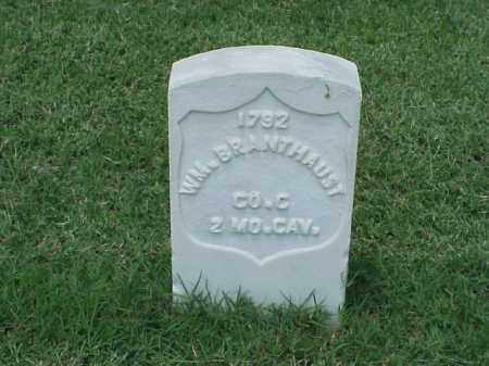 BRANTHAUST (VETERAN UNION), WILLIAM - Pulaski County, Arkansas | WILLIAM BRANTHAUST (VETERAN UNION) - Arkansas Gravestone Photos