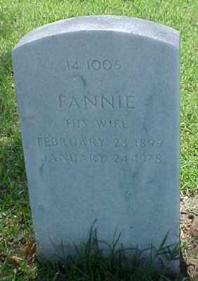 BRANTLEY, FANNIE - Pulaski County, Arkansas | FANNIE BRANTLEY - Arkansas Gravestone Photos