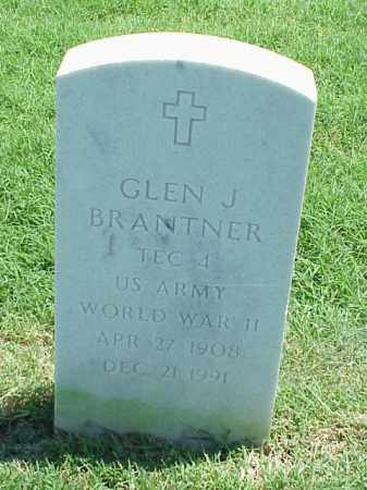 BRANTNER (VETERAN WWII), GLEN J - Pulaski County, Arkansas | GLEN J BRANTNER (VETERAN WWII) - Arkansas Gravestone Photos
