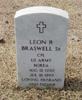 BRASWELL, SR (VETERAN KOR), LEON R - Pulaski County, Arkansas | LEON R BRASWELL, SR (VETERAN KOR) - Arkansas Gravestone Photos
