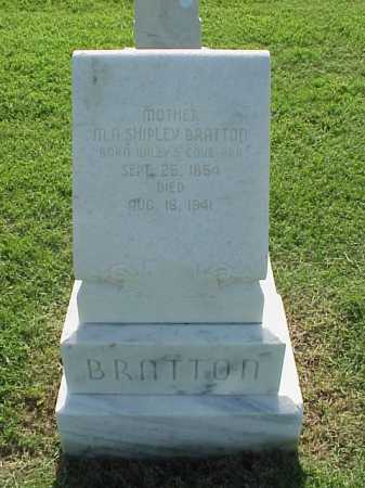 SHIPLEY BRATTON, M A - Pulaski County, Arkansas | M A SHIPLEY BRATTON - Arkansas Gravestone Photos