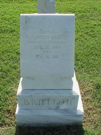 SHIPLEY BRATTON, M A - Pulaski County, Arkansas   M A SHIPLEY BRATTON - Arkansas Gravestone Photos
