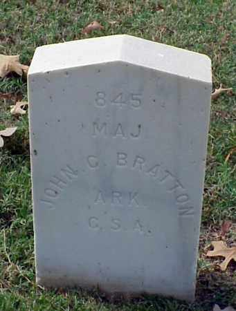 BRATTON (VETERAN CSA), JOHN C - Pulaski County, Arkansas | JOHN C BRATTON (VETERAN CSA) - Arkansas Gravestone Photos