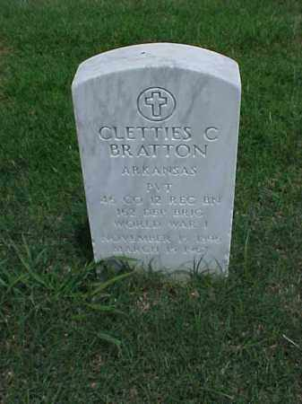 BRATTON (VETERAN WWI), CLETTIES C - Pulaski County, Arkansas | CLETTIES C BRATTON (VETERAN WWI) - Arkansas Gravestone Photos