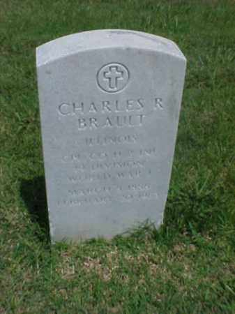 BRAULT (VETERAN WWI), CHARLES R - Pulaski County, Arkansas | CHARLES R BRAULT (VETERAN WWI) - Arkansas Gravestone Photos