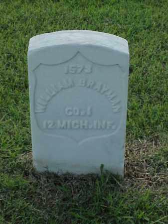 BRAYMAN (VETERAN UNION), WILLIAM - Pulaski County, Arkansas | WILLIAM BRAYMAN (VETERAN UNION) - Arkansas Gravestone Photos