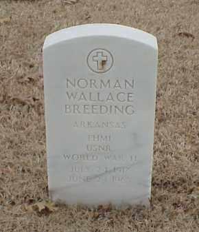 BREEDING  (VETERAN WWII), NORMAN WALLACE - Pulaski County, Arkansas | NORMAN WALLACE BREEDING  (VETERAN WWII) - Arkansas Gravestone Photos