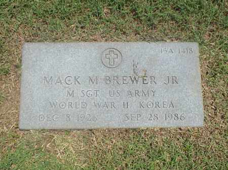 BREWER, JR (VETERAN 2 WARS), MACK M - Pulaski County, Arkansas | MACK M BREWER, JR (VETERAN 2 WARS) - Arkansas Gravestone Photos