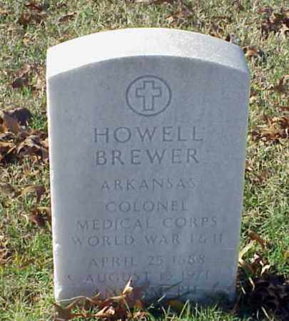 BREWER (VETERAN 2 WARS), HOWELL - Pulaski County, Arkansas | HOWELL BREWER (VETERAN 2 WARS) - Arkansas Gravestone Photos