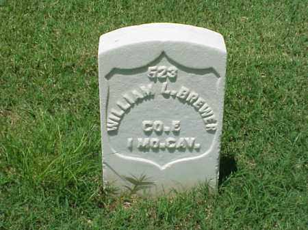 BREWER (VETERAN UNION), WILLIAM L - Pulaski County, Arkansas | WILLIAM L BREWER (VETERAN UNION) - Arkansas Gravestone Photos