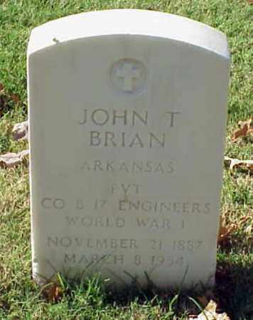 BRIAN (VETERAN WWI), JOHN T - Pulaski County, Arkansas | JOHN T BRIAN (VETERAN WWI) - Arkansas Gravestone Photos