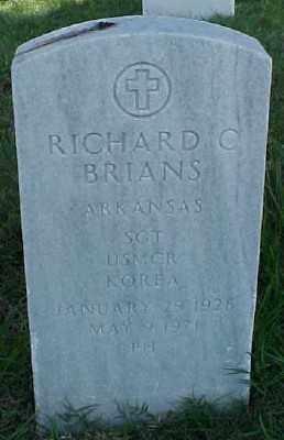 BRIANS (VETERAN KOR), RICHARD C - Pulaski County, Arkansas | RICHARD C BRIANS (VETERAN KOR) - Arkansas Gravestone Photos