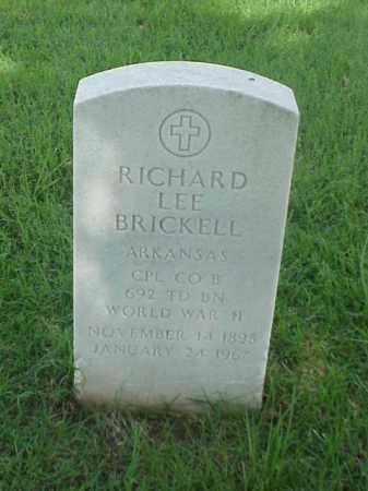 BRICKELL (VETERAN WWII), RICHARD LEE - Pulaski County, Arkansas | RICHARD LEE BRICKELL (VETERAN WWII) - Arkansas Gravestone Photos