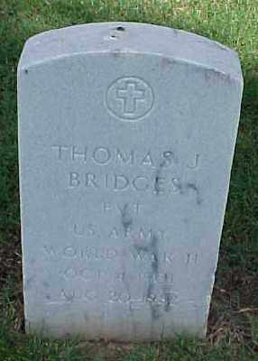 BRIDGES (VETERAN WWII), THOMAS J - Pulaski County, Arkansas | THOMAS J BRIDGES (VETERAN WWII) - Arkansas Gravestone Photos