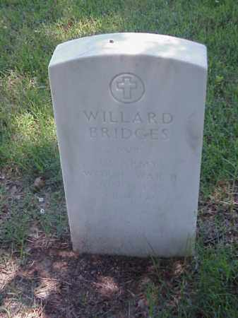 BRIDGES (VETERAN WWII), WILLARD - Pulaski County, Arkansas | WILLARD BRIDGES (VETERAN WWII) - Arkansas Gravestone Photos