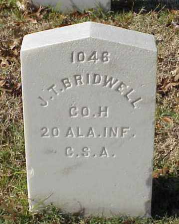 BRIDWELL (VETERAN CSA), JEREMIAH T - Pulaski County, Arkansas | JEREMIAH T BRIDWELL (VETERAN CSA) - Arkansas Gravestone Photos