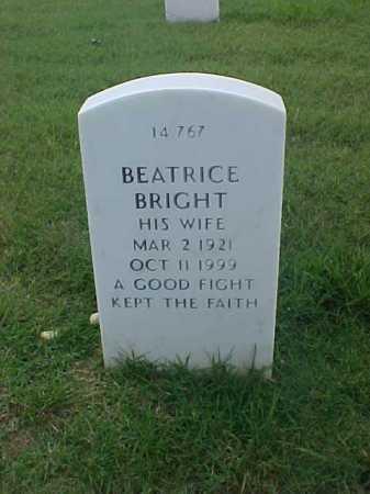 BRIGHT, BEATRICE - Pulaski County, Arkansas | BEATRICE BRIGHT - Arkansas Gravestone Photos