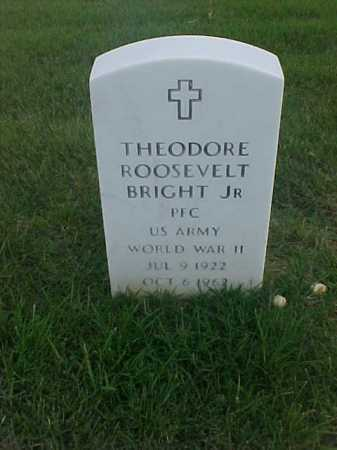 BRIGHT, JR (VETERAN WWII), THEODORE ROOSEVELT - Pulaski County, Arkansas | THEODORE ROOSEVELT BRIGHT, JR (VETERAN WWII) - Arkansas Gravestone Photos