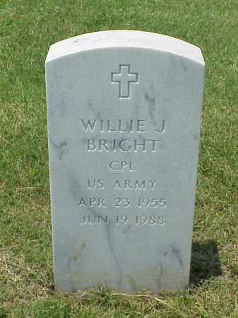 BRIGHT (VETERAN), WILLIE J - Pulaski County, Arkansas | WILLIE J BRIGHT (VETERAN) - Arkansas Gravestone Photos