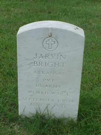 BRIGHT (VETERAN WWI), JARVIN - Pulaski County, Arkansas | JARVIN BRIGHT (VETERAN WWI) - Arkansas Gravestone Photos