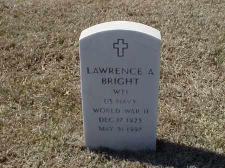 BRIGHT (VETERAN WWII), LAWRENCE A - Pulaski County, Arkansas | LAWRENCE A BRIGHT (VETERAN WWII) - Arkansas Gravestone Photos