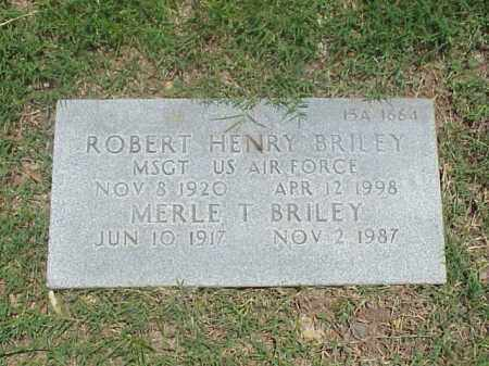 BRILEY (VETERAN 3 WARS), ROBERT HENRY - Pulaski County, Arkansas | ROBERT HENRY BRILEY (VETERAN 3 WARS) - Arkansas Gravestone Photos