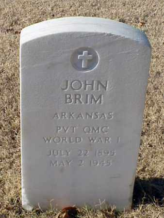 BRIM (VETERAN WWI), JOHN - Pulaski County, Arkansas | JOHN BRIM (VETERAN WWI) - Arkansas Gravestone Photos