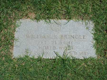 BRINGLE (VETERAN WWI), WILLIAM K - Pulaski County, Arkansas | WILLIAM K BRINGLE (VETERAN WWI) - Arkansas Gravestone Photos