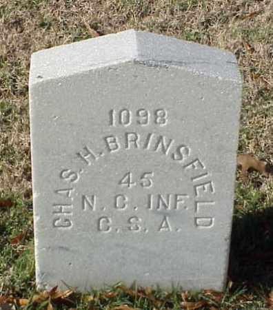 BRINSFIELD (VETERAN CSA), CHARLES H - Pulaski County, Arkansas | CHARLES H BRINSFIELD (VETERAN CSA) - Arkansas Gravestone Photos