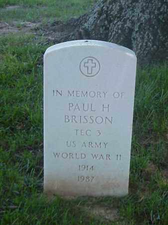 BRISSON (VETERAN WWII), PAUL  H - Pulaski County, Arkansas | PAUL  H BRISSON (VETERAN WWII) - Arkansas Gravestone Photos