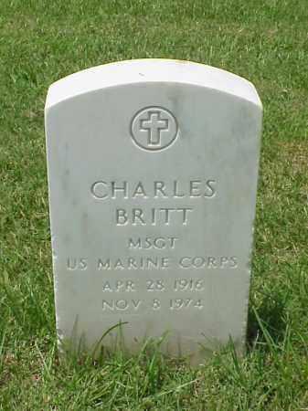 BRITT (VETERAN KOR), CHARLES - Pulaski County, Arkansas | CHARLES BRITT (VETERAN KOR) - Arkansas Gravestone Photos