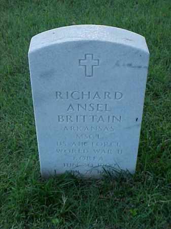 BRITTAIN (VETERAN 2 WARS), RICHARD ANSEL - Pulaski County, Arkansas | RICHARD ANSEL BRITTAIN (VETERAN 2 WARS) - Arkansas Gravestone Photos