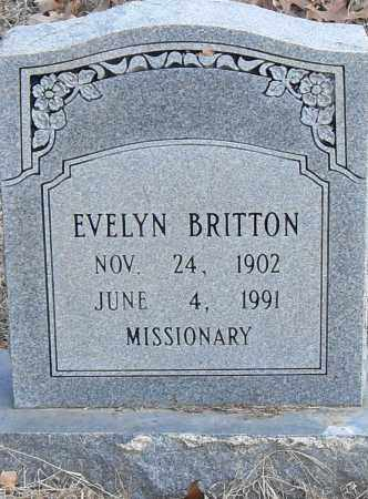 BRITTON, EVELYN - Pulaski County, Arkansas | EVELYN BRITTON - Arkansas Gravestone Photos
