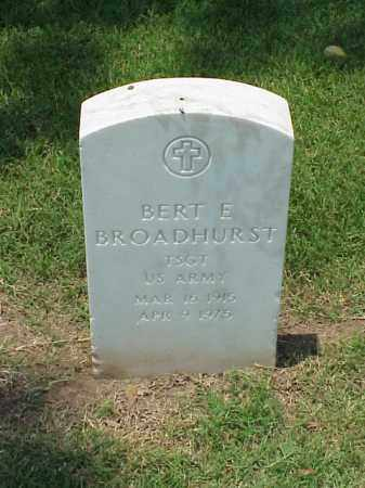 BROADHURST (VETERAN WWII), BERT E - Pulaski County, Arkansas | BERT E BROADHURST (VETERAN WWII) - Arkansas Gravestone Photos