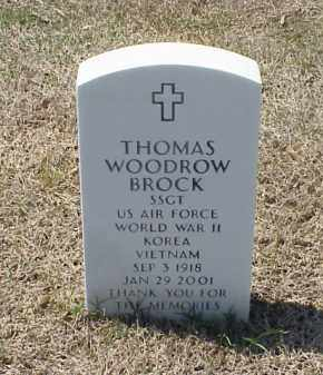 BROCK (VETERAN 3 WARS), THOMAS WOODROW - Pulaski County, Arkansas | THOMAS WOODROW BROCK (VETERAN 3 WARS) - Arkansas Gravestone Photos