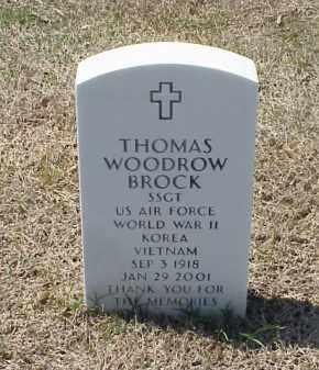 BROCK (VETERAN 3 WARS), THOMAS WOODROW - Pulaski County, Arkansas | THOMAS WOODROW BROCK (VETERAN 3 WARS) - Arkansas Gravestone Photos