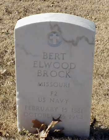 BROCK (VETERAN), BERT ELWOOD - Pulaski County, Arkansas | BERT ELWOOD BROCK (VETERAN) - Arkansas Gravestone Photos
