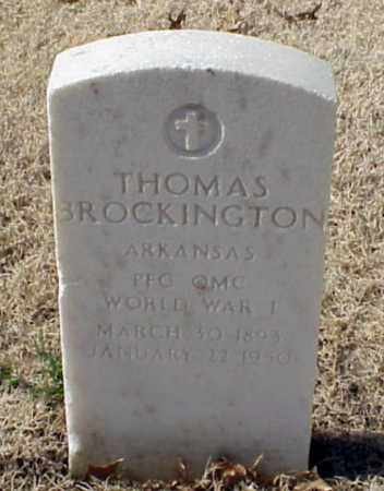 BROCKINGTON (VETERAN WWI), THOMAS - Pulaski County, Arkansas | THOMAS BROCKINGTON (VETERAN WWI) - Arkansas Gravestone Photos