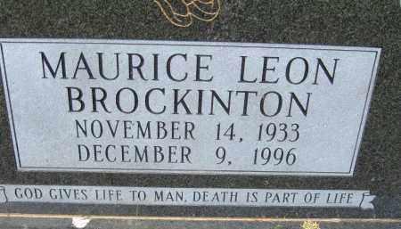 BROCKINTON, MAURICE LEON - Pulaski County, Arkansas | MAURICE LEON BROCKINTON - Arkansas Gravestone Photos