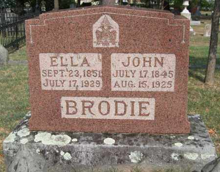 BRODIE, JOHN - Pulaski County, Arkansas | JOHN BRODIE - Arkansas Gravestone Photos