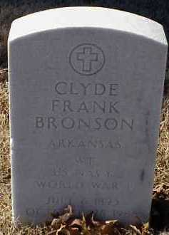 BRONSON  (VETERAN WWI), CLYDE FRANK - Pulaski County, Arkansas | CLYDE FRANK BRONSON  (VETERAN WWI) - Arkansas Gravestone Photos