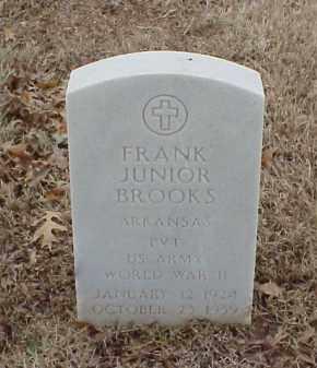BROOKS  (VETERAN WWII), FRANK JUNIOR - Pulaski County, Arkansas | FRANK JUNIOR BROOKS  (VETERAN WWII) - Arkansas Gravestone Photos