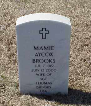 AYCOX BROOKS, MAMIE - Pulaski County, Arkansas | MAMIE AYCOX BROOKS - Arkansas Gravestone Photos