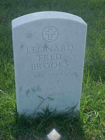 BROOKS (VETERAN 2 WARS), LEONARD FRED - Pulaski County, Arkansas   LEONARD FRED BROOKS (VETERAN 2 WARS) - Arkansas Gravestone Photos